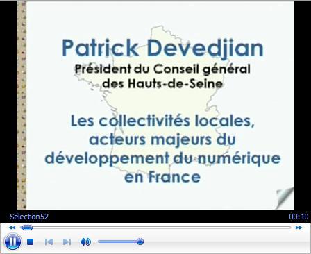 Vidéo des interventions de Patrick Devedjian et de Valérie Pécresse